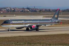 Βασιλικό ιορδανικό airbus A321 Στοκ φωτογραφίες με δικαίωμα ελεύθερης χρήσης