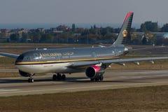 Βασιλικό ιορδανικό airbus A330 Στοκ εικόνες με δικαίωμα ελεύθερης χρήσης