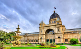 Βασιλικό κτήριο έκθεσης, μια περιοχή παγκόσμιων κληρονομιών της ΟΥΝΕΣΚΟ στη Μελβούρνη, Αυστραλία Στοκ Φωτογραφίες
