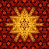 Βασιλικό κόκκινο και χρυσό σχέδιο 001 Στοκ εικόνες με δικαίωμα ελεύθερης χρήσης