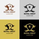 Βασιλικό λογότυπο CREST πολυτέλειας Στοκ Φωτογραφία