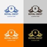 Βασιλικό λογότυπο CREST πολυτέλειας Στοκ Φωτογραφίες