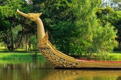 Βασιλικό παλάτι βασιλιάδων Suphannahong φορτηγίδων Στοκ Εικόνες