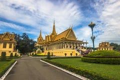 Βασιλικό παλάτι της Πνομ Πενχ, Καμπότζη Στοκ Εικόνα