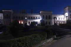Βασιλικό παλάτι Livadia τη νύχτα Στοκ Φωτογραφία