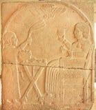 Βασιλικό πρόσωπο στις επιτροπές ανακούφισης από την αρχαία περιοχή της Τουρκίας, 730 Π.Χ. Στοκ Εικόνες