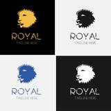 Βασιλικό πρότυπο λογότυπων λιονταριών Στοκ Φωτογραφίες