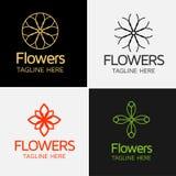 Βασιλικό πρότυπο λογότυπων λουλουδιών Στοκ φωτογραφία με δικαίωμα ελεύθερης χρήσης