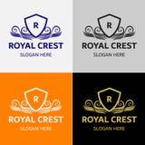 Βασιλικό πρότυπο λογότυπων CREST Στοκ φωτογραφία με δικαίωμα ελεύθερης χρήσης