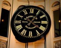 Βασιλικό ρολόι Arcade, Μελβούρνη, Αυστραλία Στοκ εικόνες με δικαίωμα ελεύθερης χρήσης