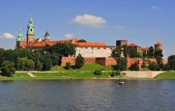 Βασιλικό Wawel Castle στην Κρακοβία - την Πολωνία Στοκ φωτογραφία με δικαίωμα ελεύθερης χρήσης