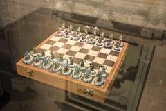 Βασιλοπρεπής σκακιέρα στο παλάτι στοκ φωτογραφία με δικαίωμα ελεύθερης χρήσης