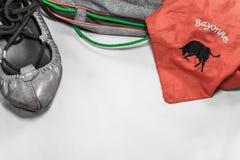 Βασκικά feria παπούτσια και εξαρτήματα ύφους εξοπλισμού κομμάτων θερινού φεστιβάλ χορεύοντας Στοκ Εικόνες