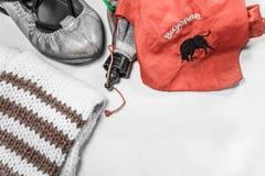 Βασκικά feria παπούτσια και εξαρτήματα ύφους εξοπλισμού κομμάτων θερινού φεστιβάλ χορεύοντας Στοκ εικόνες με δικαίωμα ελεύθερης χρήσης