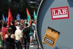 Βασκική συνάθροιση συνδικάτων στοκ φωτογραφία με δικαίωμα ελεύθερης χρήσης