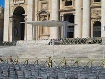 19 06 2017, Βατικανό, Ρώμη, Ιταλία: Άποψη σχετικά με την πλατεία Αγίου Peter ` s Στοκ Φωτογραφίες