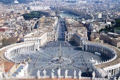 Βατικανό Ρώμη - Plaza de SAN Pedro Στοκ εικόνα με δικαίωμα ελεύθερης χρήσης