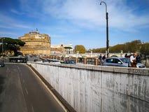 Βατικανό Lungotevere και Sant Angelo Castle στη Ρώμη, Ιταλία Στοκ φωτογραφία με δικαίωμα ελεύθερης χρήσης