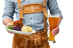 Βαυαρικός σερβιτόρος Στοκ Εικόνες