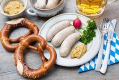 Βαυαρικό γεύμα Στοκ Εικόνα