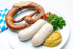 Βαυαρικό γεύμα Στοκ Φωτογραφία