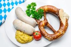 Βαυαρικό γεύμα Στοκ εικόνα με δικαίωμα ελεύθερης χρήσης
