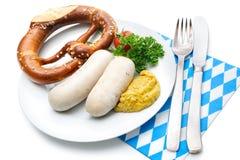 Βαυαρικό γεύμα Στοκ Εικόνες
