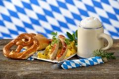 Βαυαρικό μεσημεριανό γεύμα Στοκ Εικόνες