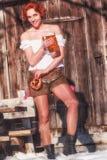 Βαυαρικό Cowgirl στοκ εικόνα