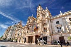 Βαλένθια Ισπανία | Δημαρχείο Στοκ εικόνα με δικαίωμα ελεύθερης χρήσης