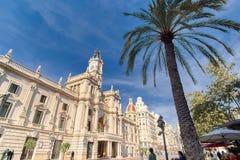 Βαλένθια Ισπανία | Δημαρχείο Στοκ φωτογραφία με δικαίωμα ελεύθερης χρήσης