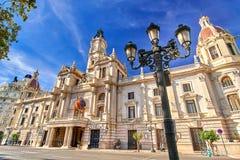 Βαλένθια Ισπανία | Δημαρχείο Στοκ Φωτογραφίες