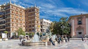 Βαλένθια, Ισπανία στις 2 Δεκεμβρίου 2016: Ιστορική πηγή Στοκ εικόνες με δικαίωμα ελεύθερης χρήσης