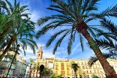 Βαλένθια Ισπανία Plaza de Λα Reina Στοκ φωτογραφία με δικαίωμα ελεύθερης χρήσης