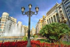 Βαλένθια Ισπανία | Plaza del Ayuntamiento Στοκ φωτογραφία με δικαίωμα ελεύθερης χρήσης