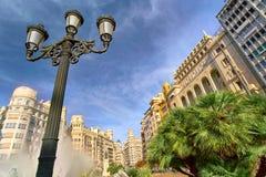 Βαλένθια Ισπανία | Plaza del Ayuntamiento Στοκ εικόνες με δικαίωμα ελεύθερης χρήσης