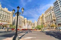 Βαλένθια Ισπανία | Plaza del Ayuntamiento Στοκ Φωτογραφία