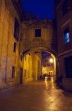 Βαλένθια τη νύχτα, Ισπανία Στοκ εικόνα με δικαίωμα ελεύθερης χρήσης