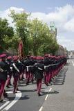 Βαδίζοντας βρετανικοί στρατιώτες στο Winchester Αγγλία UK Στοκ φωτογραφίες με δικαίωμα ελεύθερης χρήσης