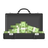 Βαλίτσα με τα χρήματα Στοκ εικόνες με δικαίωμα ελεύθερης χρήσης
