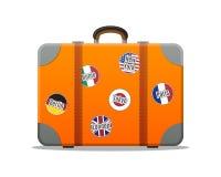 Βαλίτσα ταξιδιού Επίπεδο σχέδιο Στοκ Εικόνα