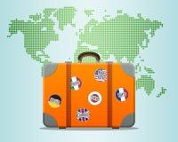 Βαλίτσα ταξιδιού Στοκ εικόνα με δικαίωμα ελεύθερης χρήσης