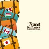 Βαλίτσες ταξιδιού ελεύθερη απεικόνιση δικαιώματος