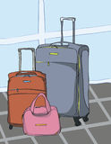 Βαλίτσες ταξιδιού Στοκ εικόνα με δικαίωμα ελεύθερης χρήσης