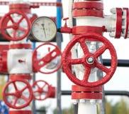 Βαλβίδα αερίου ελέγχου στοκ εικόνες