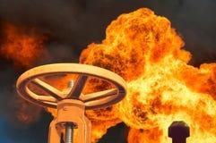 Βαλβίδα αερίου Στοκ Φωτογραφίες