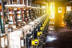 Βαλβίδα ελέγχου στη διαδικασία πετρελαίου και φυσικού αερίου Στοκ Φωτογραφίες
