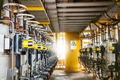 Βαλβίδα ελέγχου στη διαδικασία πετρελαίου και φυσικού αερίου, Στοκ Φωτογραφία