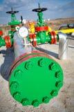 Βαλβίδα πετρελαίου στη βιομηχανία πετρελαίου στοκ εικόνες