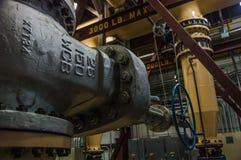Βαλβίδα στις εγκαταστάσεις παραγωγής ενέργειας Στοκ εικόνα με δικαίωμα ελεύθερης χρήσης